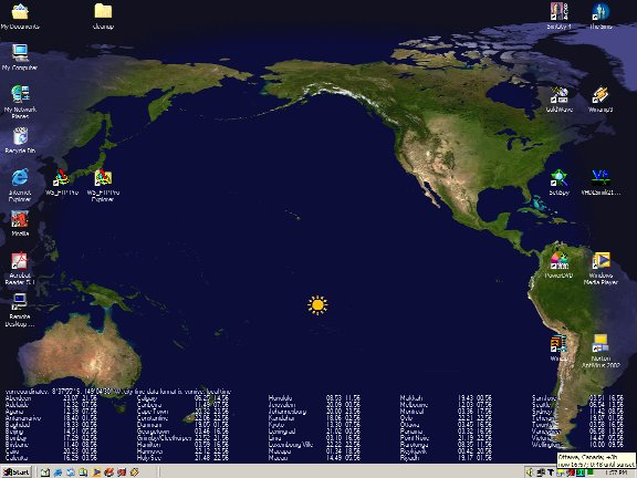 Desktop Sun Tracker (Sun Clock) Home Page